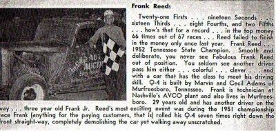 In Memory of Frank Reed