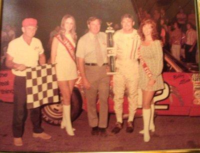 Flagman Maxey Grubbs Highland Rim Speedway Bobby Allison Winner