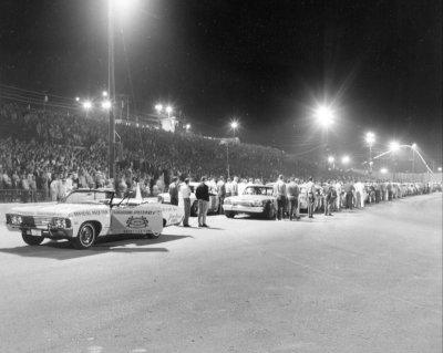 1966 Front straight during anthem.