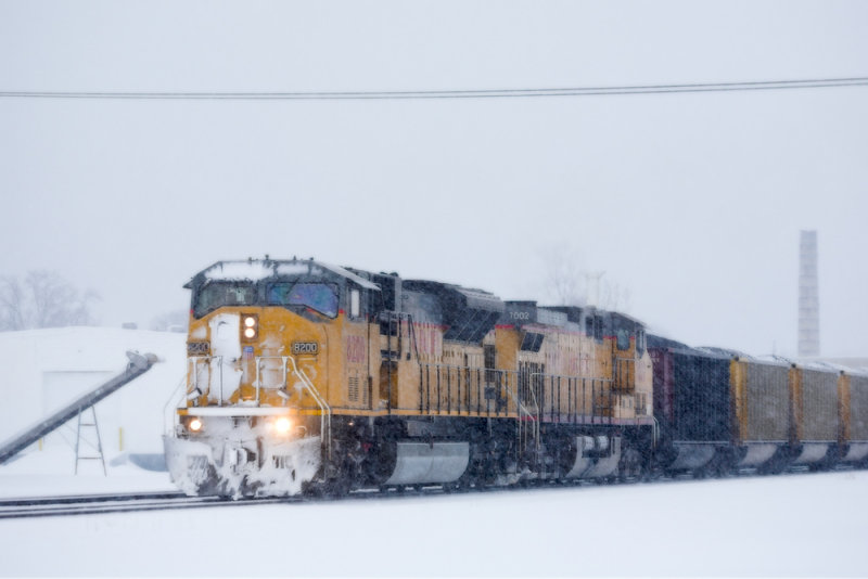 Union Pacific 8200 and 7002