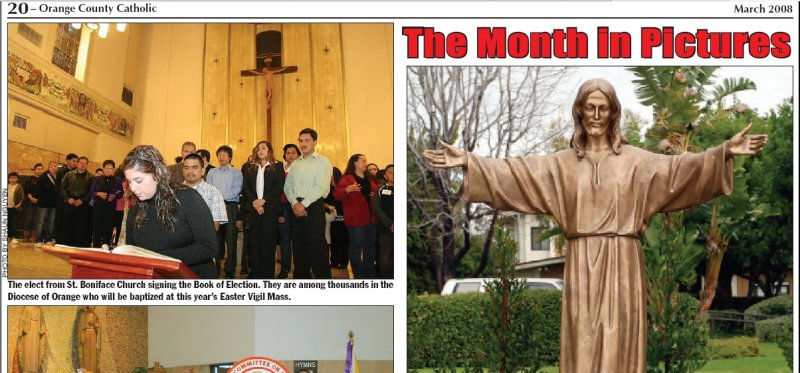 Rite of Election, OC Catholic image in March 2008