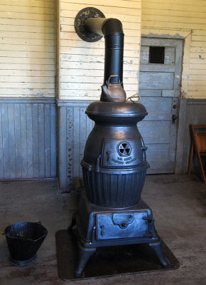 A U.S. Army Cannon Heater in Sitting/Recreation Room