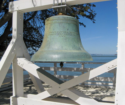 The bell, lost but found in a junkyard in San Diego (myth?)
