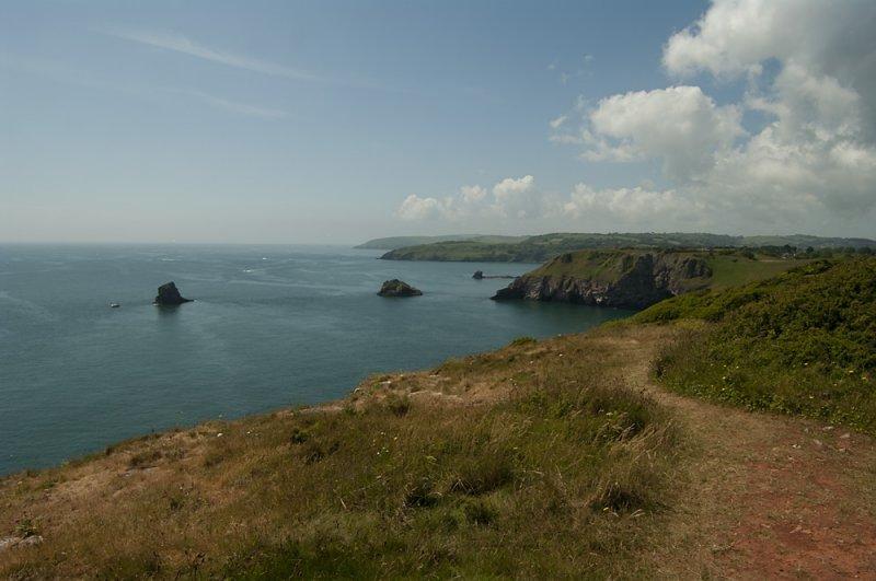 Path along the coast Berry Head