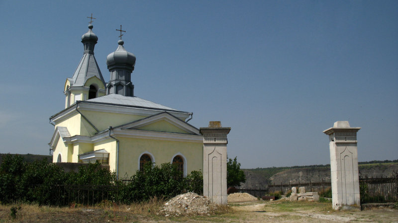 Modern church atop the plateau