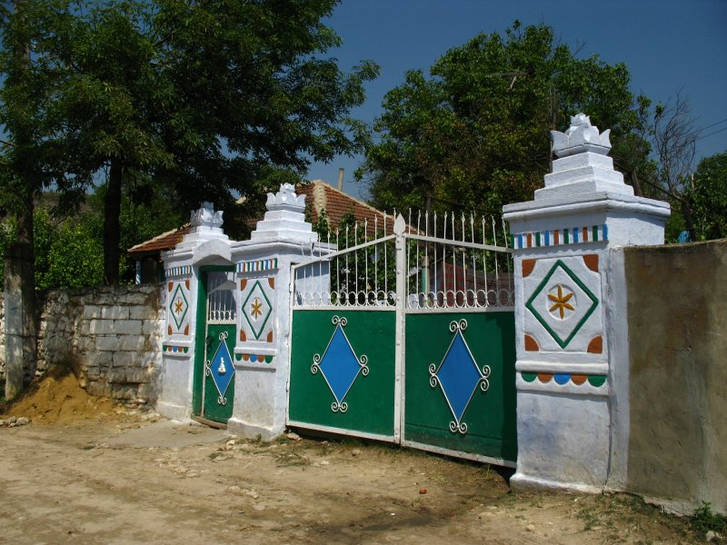 Another ornate gate outside a village house