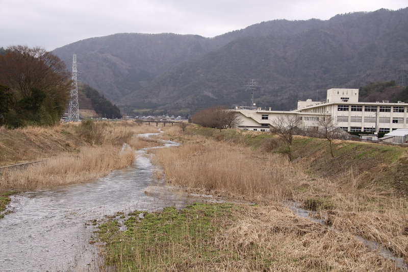 Stream running through rural Higashi-Obama