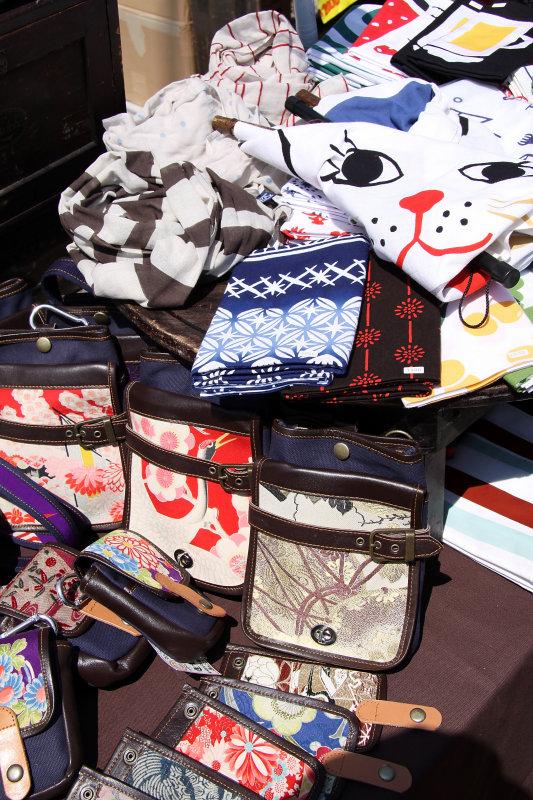 Shibori-patterned wallets