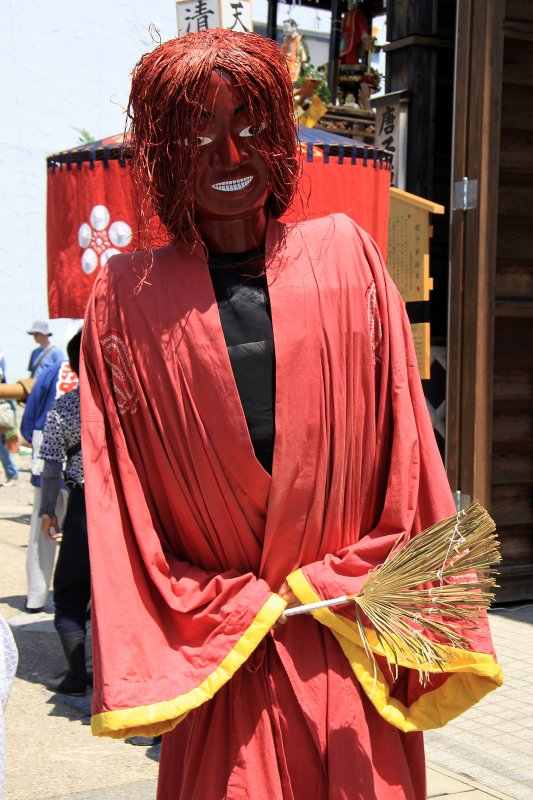 Costumed festival participant