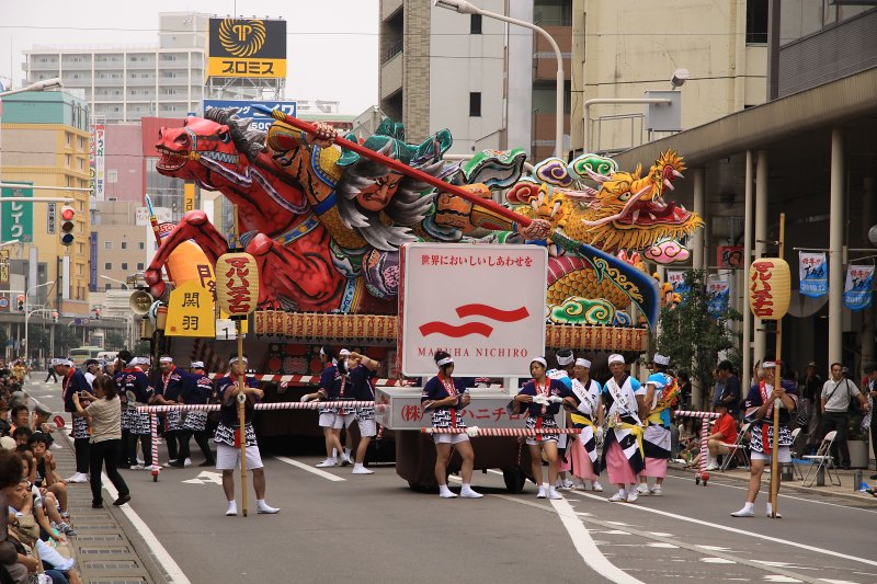 First nebuta float is ready to go