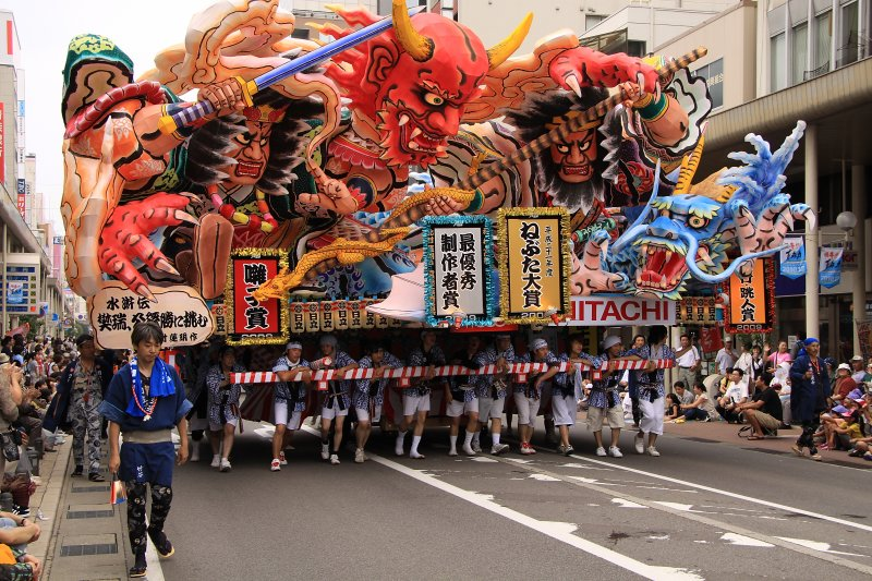 First of the large nebuta floats