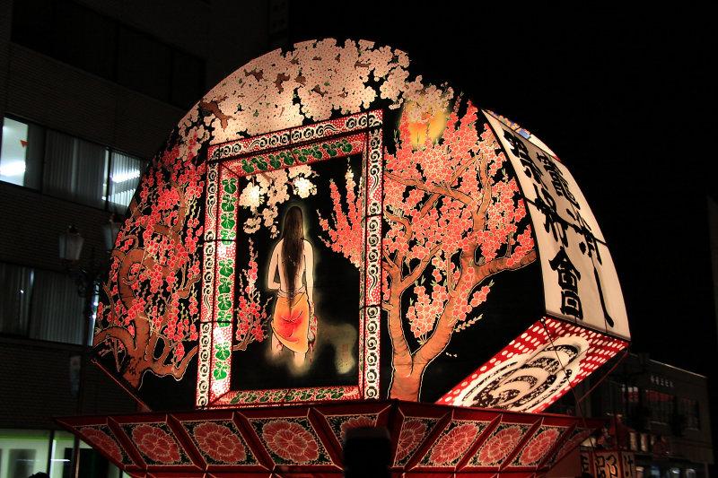 Peaceful rear scene with sakura