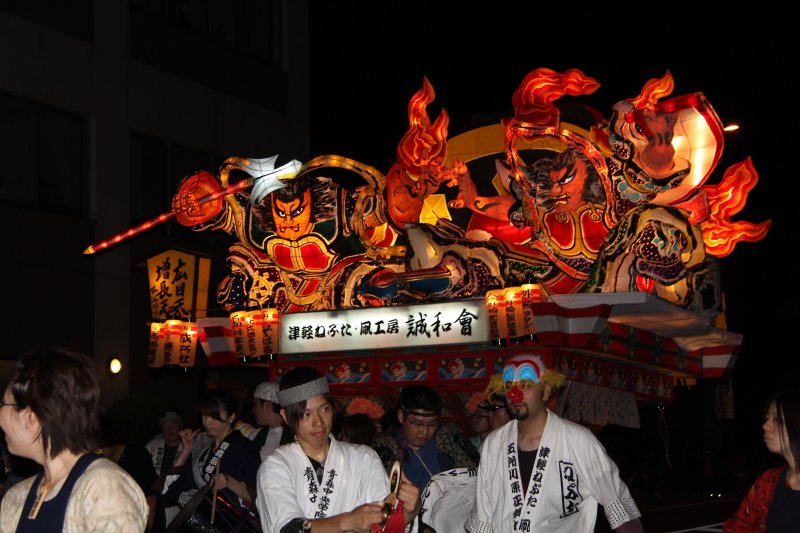 Illuminated nebuta-style float