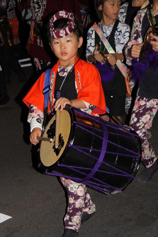 Young girl drummer