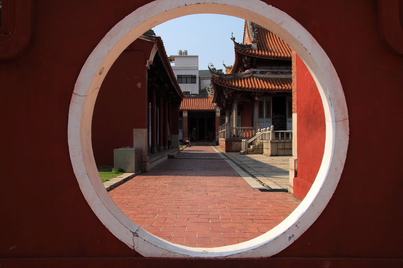 Gate in Changhuas Confucian Temple