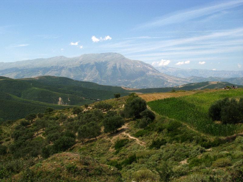Albanias mountainous terrain