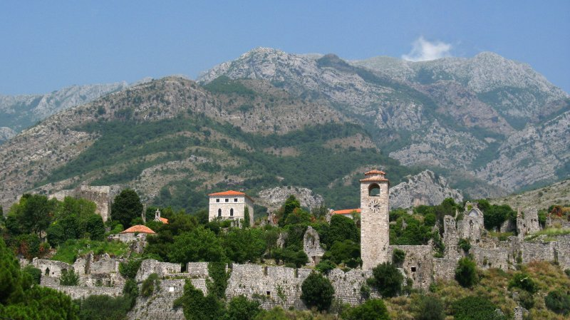 Ruins of Stari Bar and Rumija Mountains
