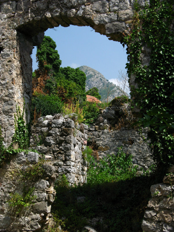 Crumbling archway