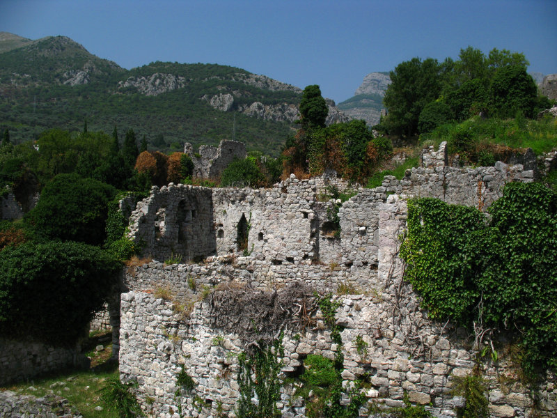 Terrace of ruined walls