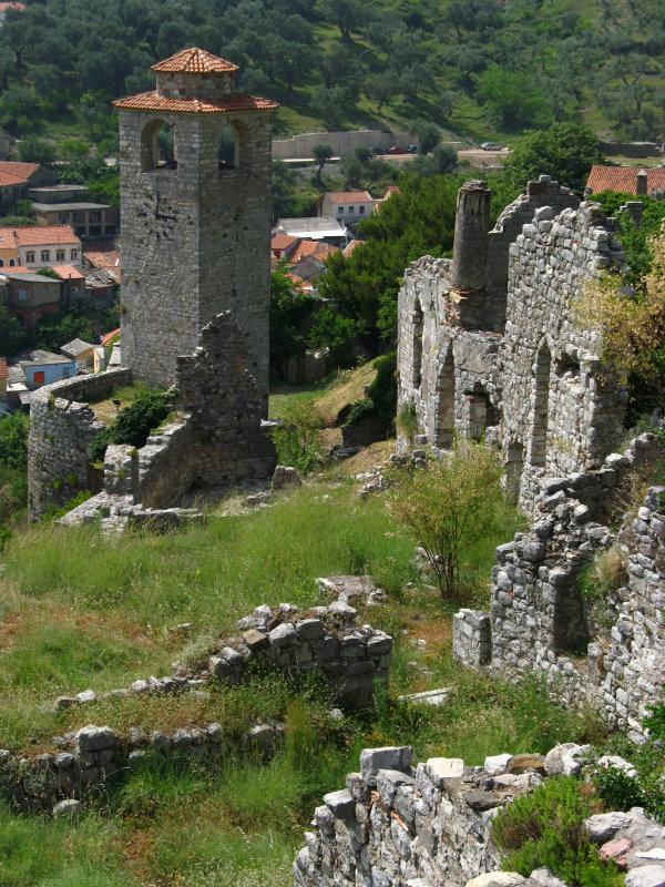 Ruins around the clock tower, Stari Bar