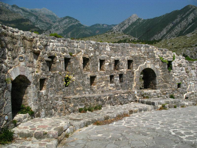 Upper fortifications of the citadel, Stari Bar