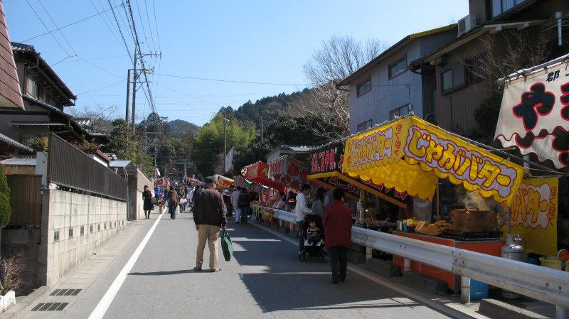 Festival yatai on the main shrine approach