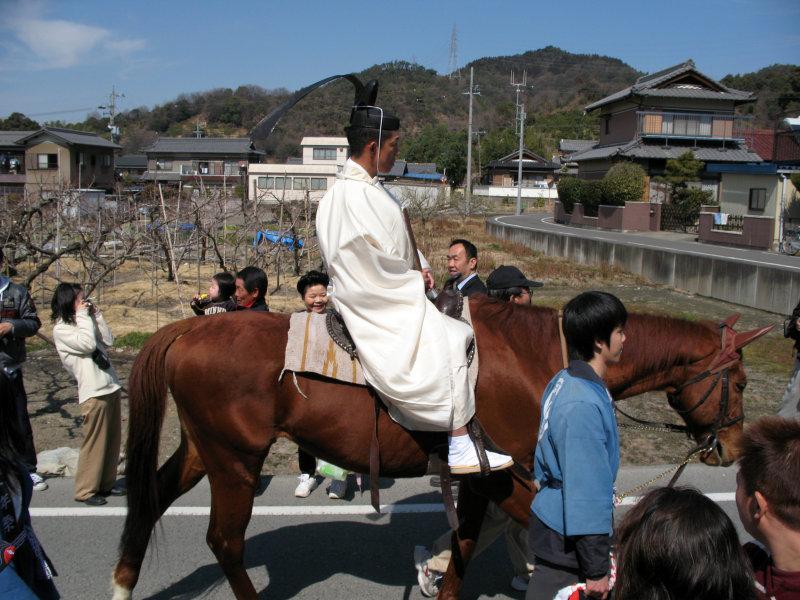 Horseback festival participant