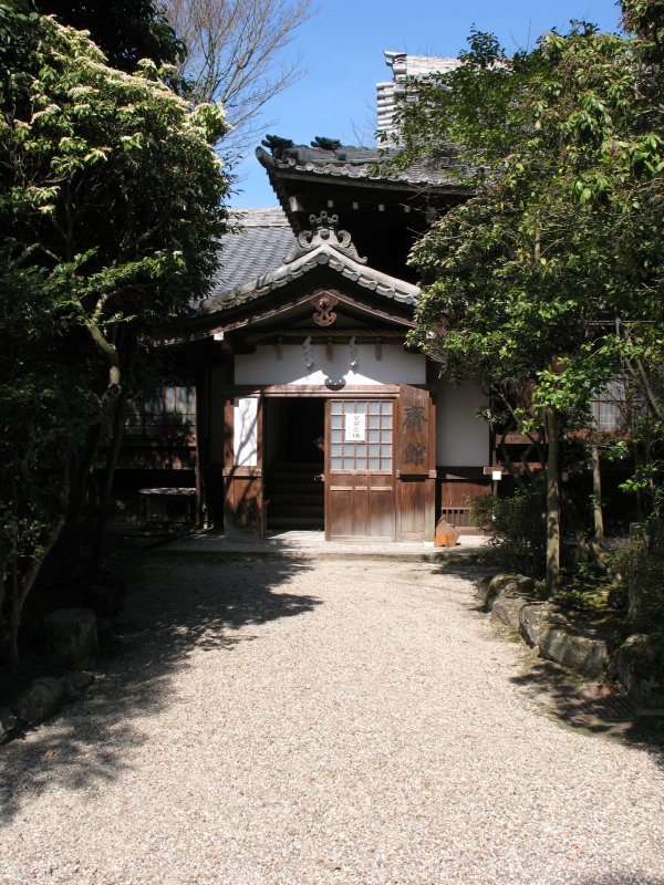 Entry path to a shrine building