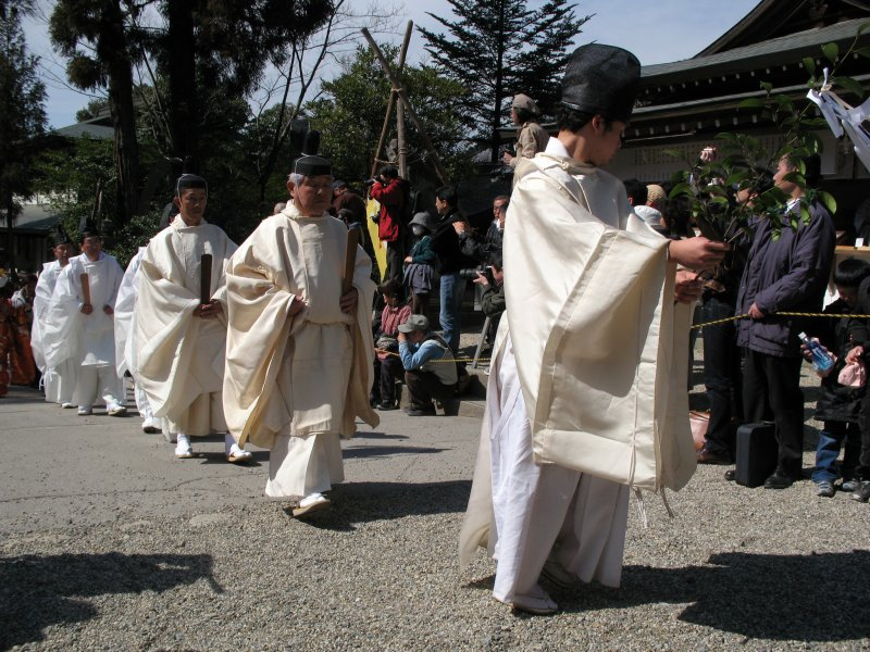 Shrine elders at the start of the parade