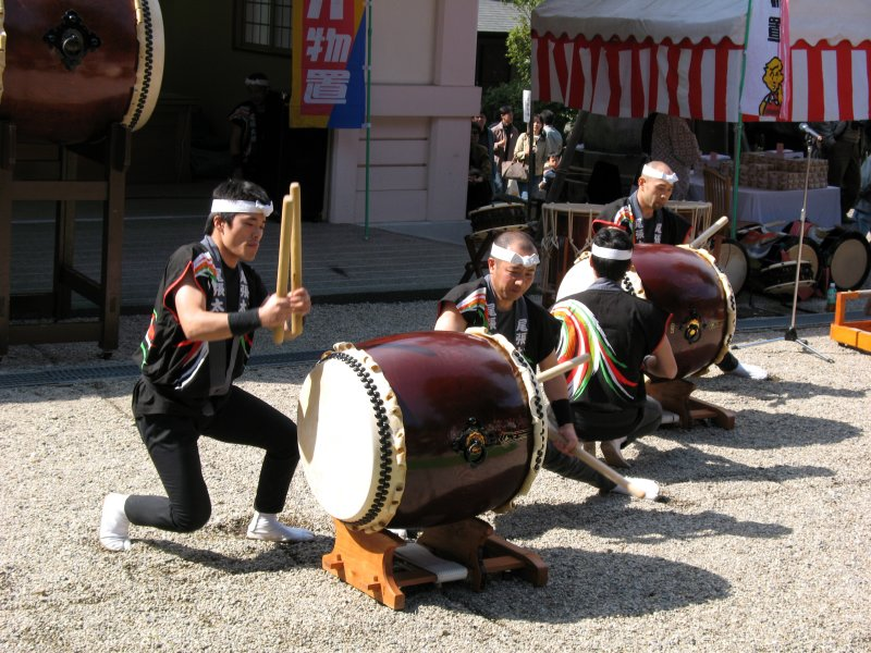 Taiko performance within the shrine grounds
