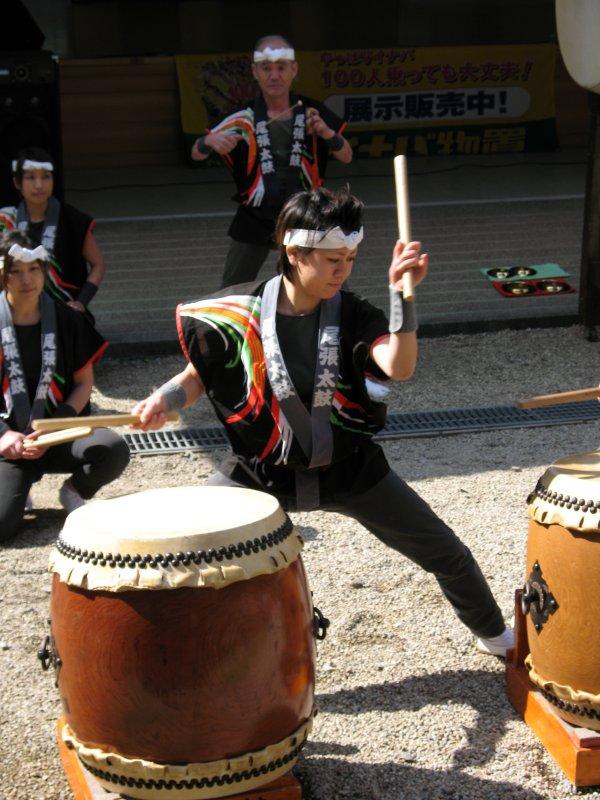 Woman taiko drummer