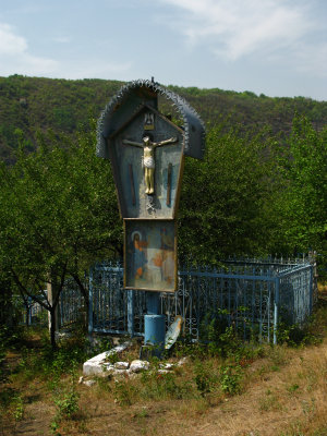 Crucifix on the edge of the village