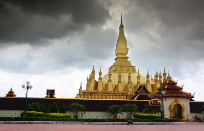 Storm Clouds Over Pra That Luang