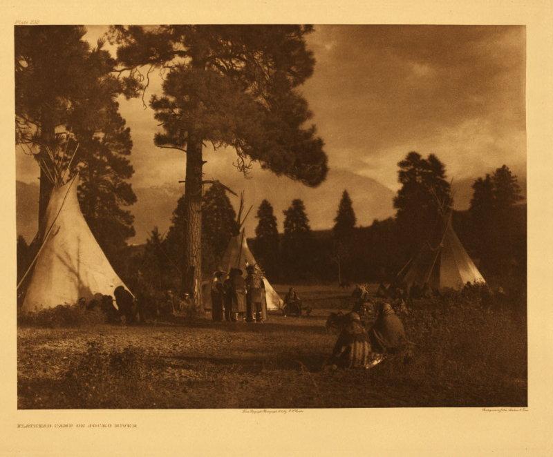 Flathead camp on Jocko River