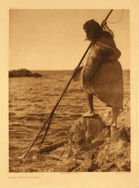 Nootka method of spearing