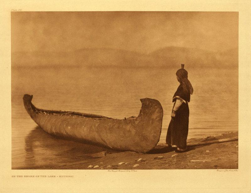 On the shore of the lake - Kutenai