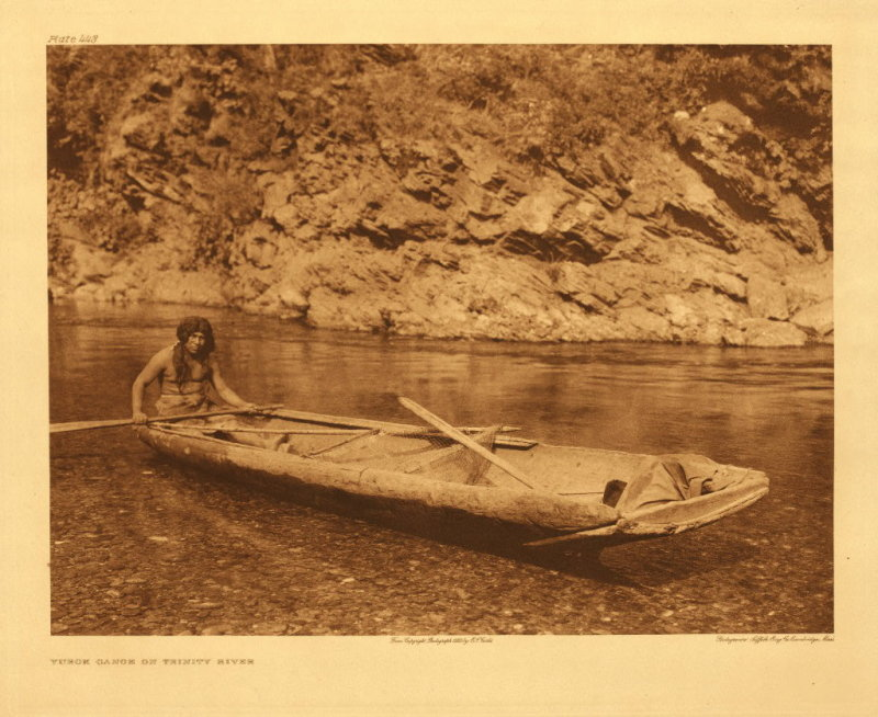 Yurok canoe on Trinity River