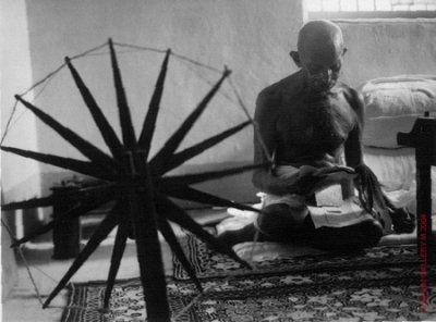 Gandhi at his Spinning Wheel - Margaret Bourke-White, 1946