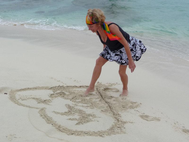 Toe Artist In De Sand