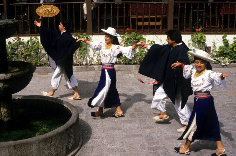 Ibarra, Folk-dancers at hacienda Los Monjes