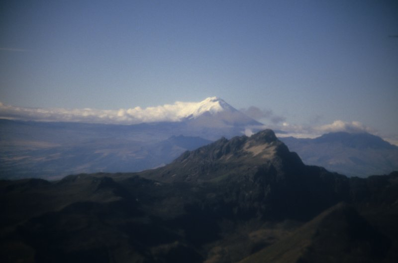 Cotopaxi seen from the plane