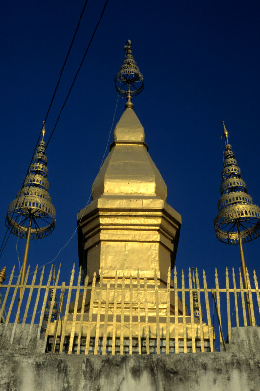Luang Prabang. That Chom Si on top of  Phu Si Hill