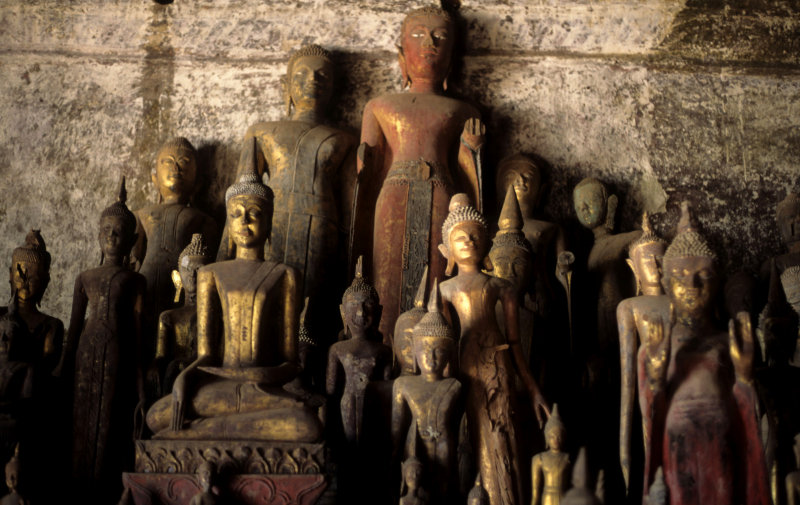 Buddhas in the Pak Ou Caves