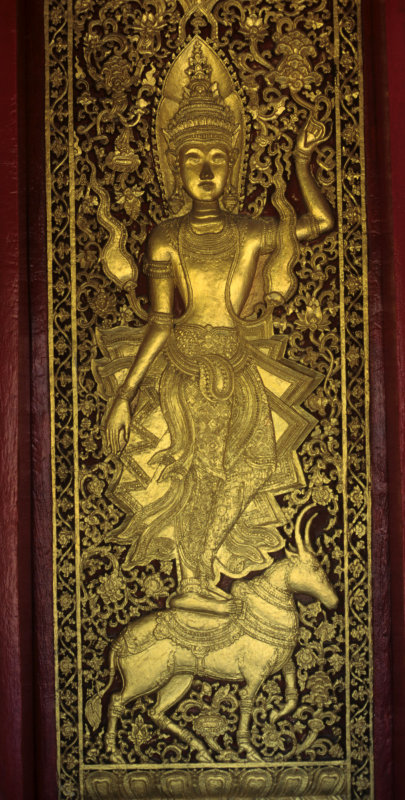 Luang Prabang. Temple door of Wat Visounnarath