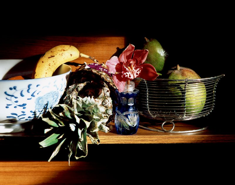 Still Life - Fruits & Orchid