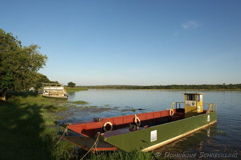 Ferry on Victoria Nile