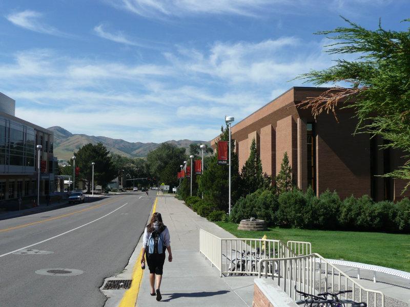 Pocatello Street Scene - MLK Blvd and ISU Eli Oboler Library P1040002.jpg