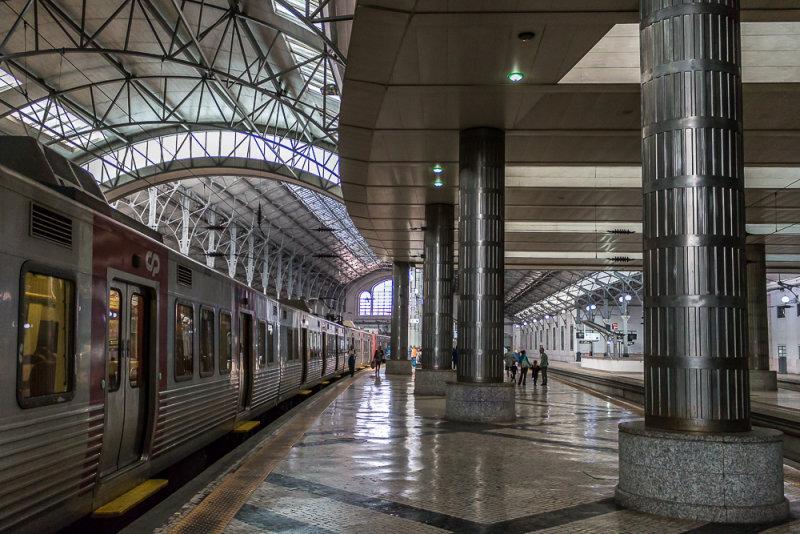 Interior of Rossio Train Station