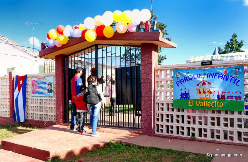 Kids playground at Vinales,Cuba