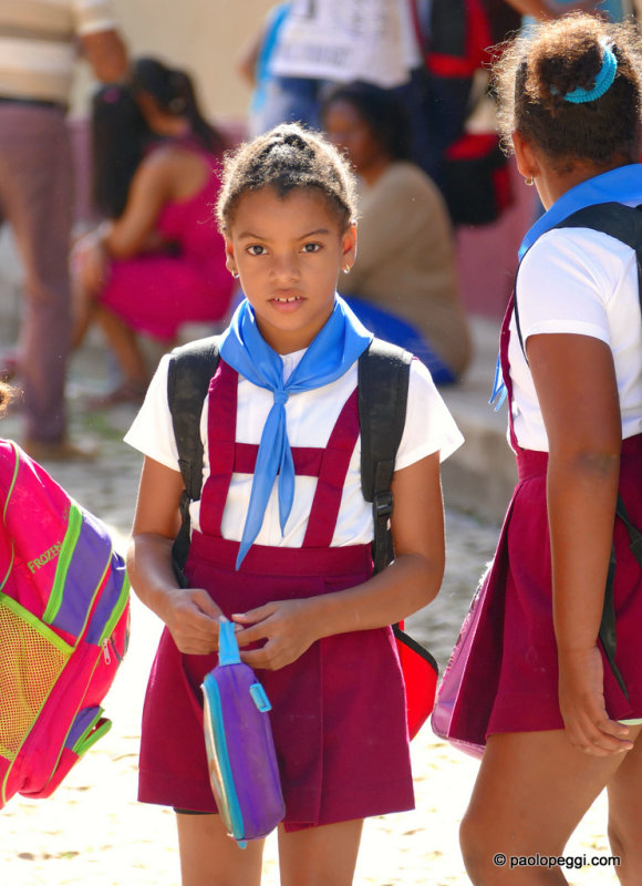 Schools over for today. Trinidad, Cuba